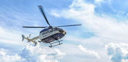 Bergwacht und Polizeifliegerstaffel Hessen üben gemeinsam am Hoherodskopf