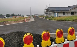 Erschließungsarbeiten im Neubaugebiet fast abgeschlossen