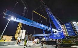 Bickhardt Bau AG am Flughafen: Neue 145 Meter lange Autobahnbrücke