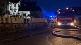 Feuerwehreinsatz in Marbach: Brand im Obergeschoss gelöscht