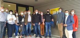 CDU-Arbeitskreis besichtigt PV-Anlage auf Grundschule Bimbach