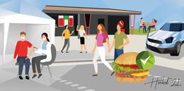 Erst der Pieks, dann der Burger: Engelbert Strauss unterstützt kreisweite Aktion