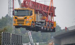Der berühmte Salzbachtalbrücke-Laster ist wieder in Osthessen