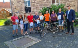 Stadtradeln in Alheim Runter vom Sofa, rauf auf's Rad! - Teilnehmer geehrt