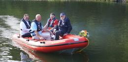 Neues Rettungsboot Schützmann am Guckaisee in Dienst gestellt