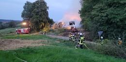500 Strohballen geraten in Brand: A4 war gesperrt
