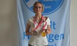 Paralympics-Goldmedaillengewinnerin in Heimatstadt empfangen