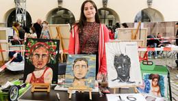 Erstes Malfestival im Museumshof: Künstlerische Bandbreite überzeugt