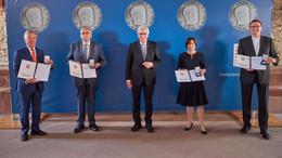 Vier Persönlichkeiten mit der Wilhelm Leuschner-Medaille ausgezeichnet