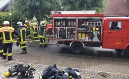 Kellerbrand in Ober-Ohmen: Dichter Rauch in Einfamilienhaus