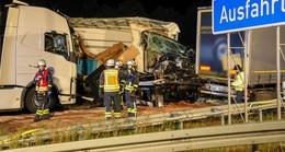 Schwerer Unfall am Stauende auf A66: Stundenlange Bergungsarbeiten