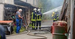 Werkstattbrand auf landwirtschaftlichem Anwesen: Feuer schnell unter Kontrolle