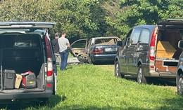 Schockfund in Mittelgründau: Zwei Personen in Mercedes verbrannt