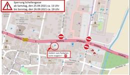 B62 Schellengasse: Größere Verkehrsbeschränkungen am Wochenende