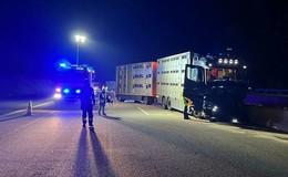 Lkw-Fahrer fällt in Sekundenschlaf - 75.000 Euro Sachschaden