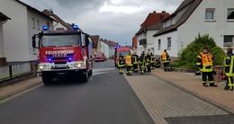 Einsatz für die Feuerwehr: Heizungsbrand in Widdershausener Keller