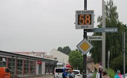 91,9 Prozent sind in der Zeller Straße zu schnell unterwegs