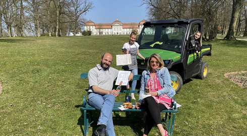 Schlossrestaurant Die Fasanerie: Wenn das Essen an die Parkbank kommt